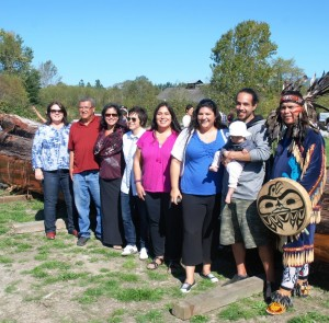 Members of the Musqueam Advisory Council and the PI and Co-PI's of the Awakening the Spirit